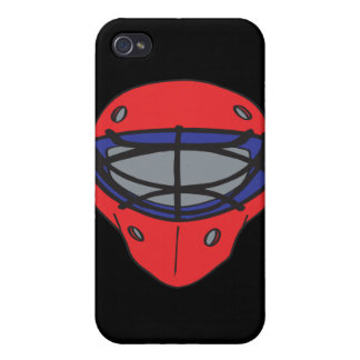 Goalie Mask Red And Blue iPhone 4/4S Case