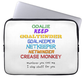 Goalie Names Laptop cover