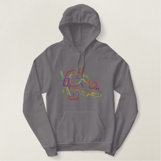 Goalie Outline Embroidered Hoodie