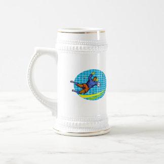 Goalie Soccer Football Player Retro Coffee Mug