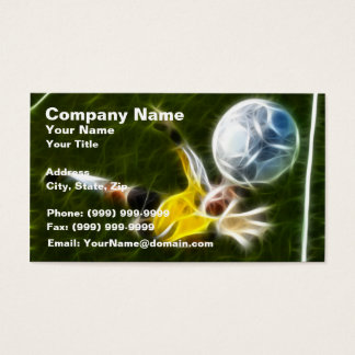 Goalkeeper in Action Business Card