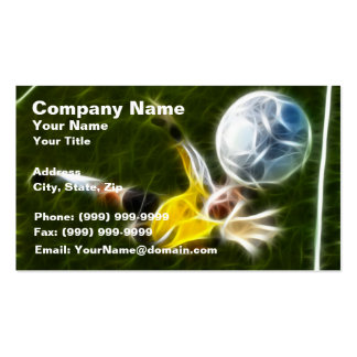 Goalkeeper in Action Business Card Template
