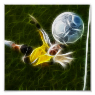 Goalkeeper in Action Poster