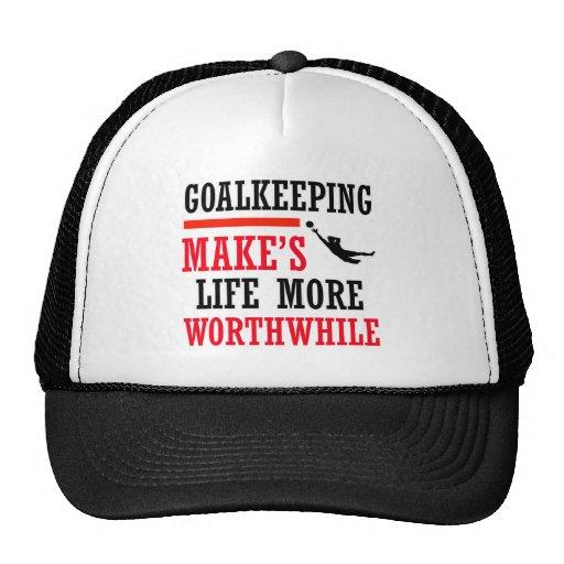 goalkeeping soccer design trucker hat