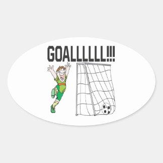 Goalllllllllllllllll Oval Sticker