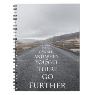 Goals and dreams motivational quotes notebook