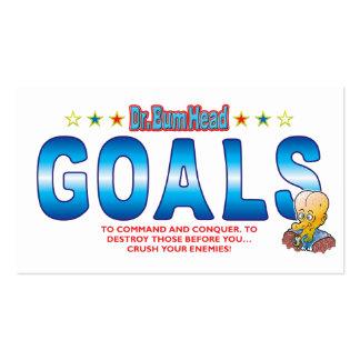 Goals Dr Bum Head Business Card