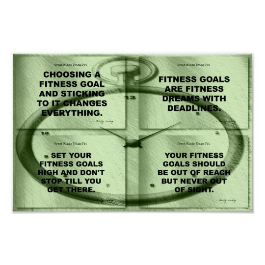 Goals Fitness Collage in Time Poster