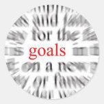 Goals Round Sticker