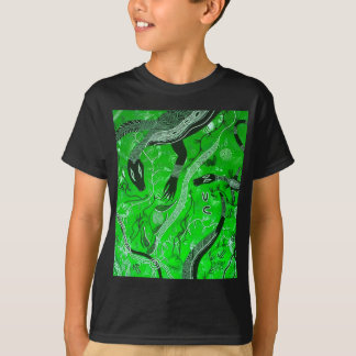 Goanna Dreaming Green T-Shirt