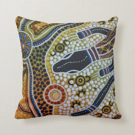 Goanna Dreaming Pillow Cushion