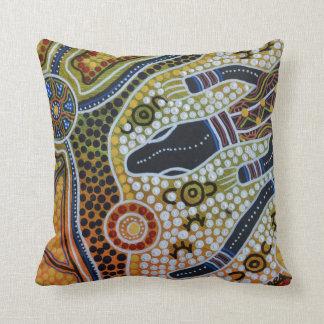 Goanna Dreaming Pillow Cushion