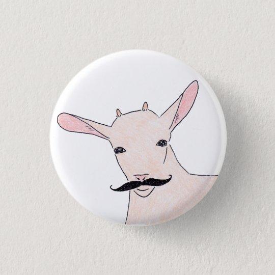 goat 3 cm round badge