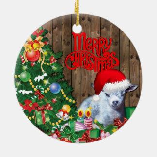 GOAT  Adorable Pygmy Goat Baby Christmas Christmas Ornament
