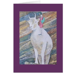 goat and imp greeting card