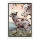 Goat and Kid by E. J. Detmold Card