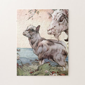 Goat and Kid by E. J. Detmold Jigsaw Puzzle