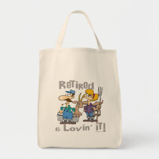 Goat and Retired Family Grocery Tote Bag