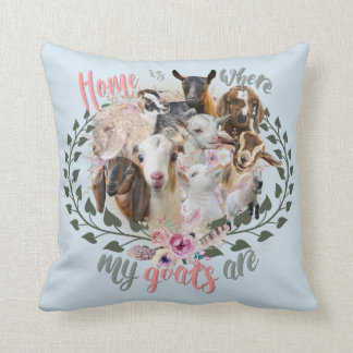 GOAT ART | Home is Where My Goats Are GetYerGoat Cushion