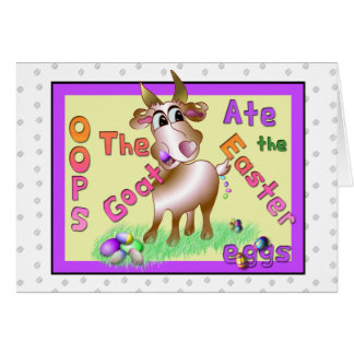 Goat Ate Easter Eggs Greeting Card