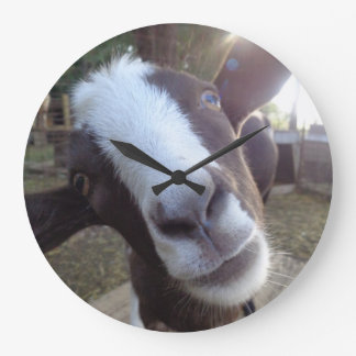 Goat Barnyard Farm Animal Large Clock