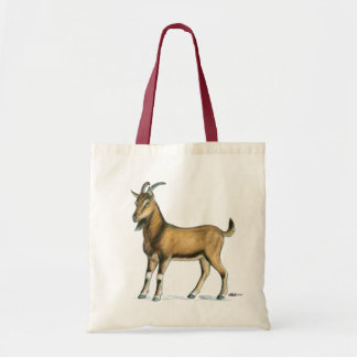 Goat:  Brown Tote Bag