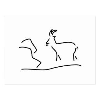 goat Capricorn Postcard