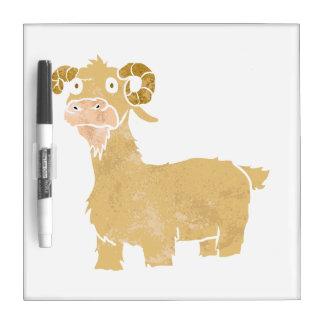 Goat cartoon. dry erase board
