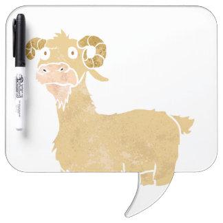 Goat cartoon. Dry-Erase boards