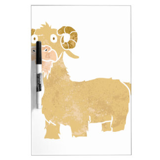 Goat cartoon. Dry-Erase whiteboards