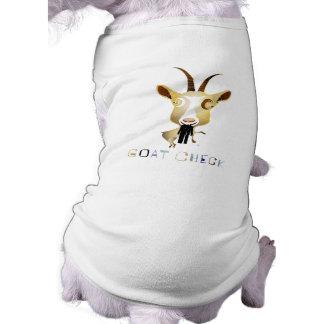 Goat Check – ZooDo Illustration Sleeveless Dog Shirt