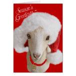 Goat Christmas Card LaMancha Goat Card