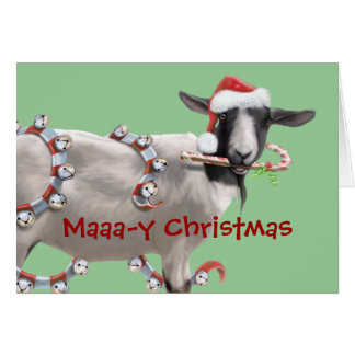 Goat Christmas Greeting Card