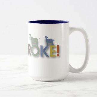 goat coffee mug, goat broke logo Two-Tone coffee mug