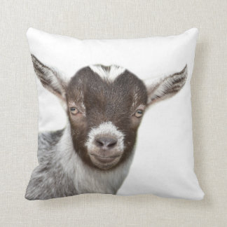 Goat farm animal cute nursery photo cushion