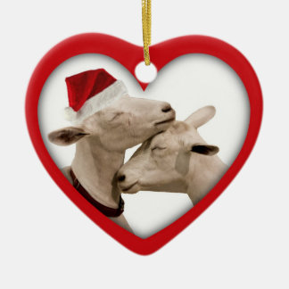 Goat Farmer Lovers Wedding or Anniversary Heart Christmas Ornament