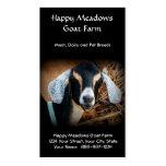 Goat Farming or Breeding Business Card