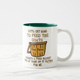 Goat Feed Bucket Mug Personalized