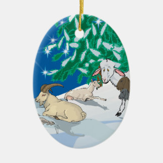 Goat - Gift of the Old One Ceramic Oval Decoration