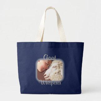 Goat Gifts Goat Whisperer Large Tote Bag