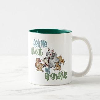 Goat Grand Kids - Grandma Two-Tone Coffee Mug