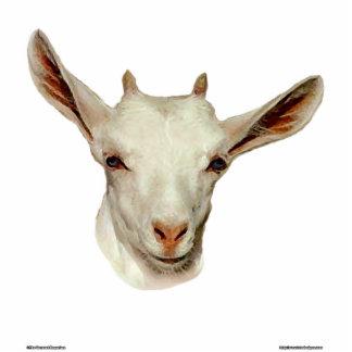 Goat Head Standing Photo Sculpture