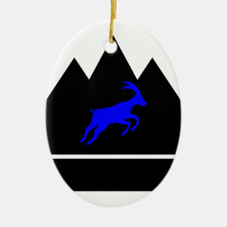 Goat in a Mountain Christmas Ornament