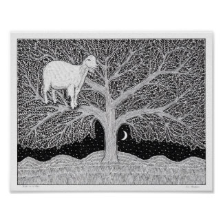 Goat in a Tree Poster