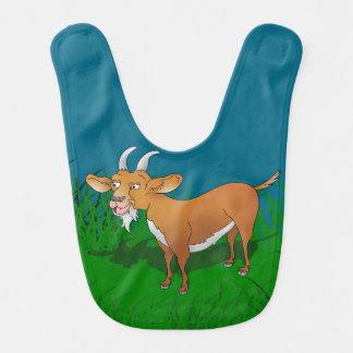 Goat in long grass baby bibs