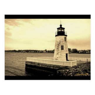 Goat Island Ligthhouse Newport, RI postcard