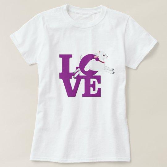 GOAT LOVER | PURPLE Goat L O V E with White Goat T-Shirt