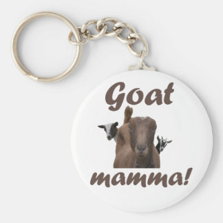 Goat Mamma Basic Round Button Key Ring
