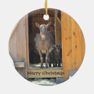 Goat Merry Christmas Ornament