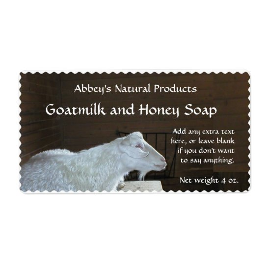 Goat Milk Soap Label - customisable Shipping Label